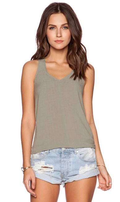 Item - Moss Green / Thyme Green Cut Out Back Tank Top/Cami Size 4 (S)