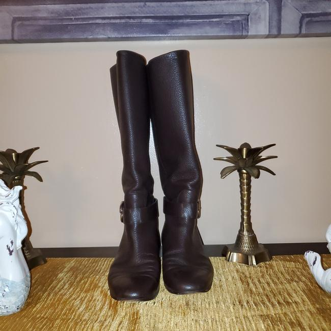 Item - Brown Doble Gg Knee High Boots/Booties Size EU 37 (Approx. US 7) Regular (M, B)