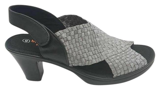 Item - Metallic Womens Beatrice Basketweave Hook and Loop Sandals Size US 8 Regular (M, B)