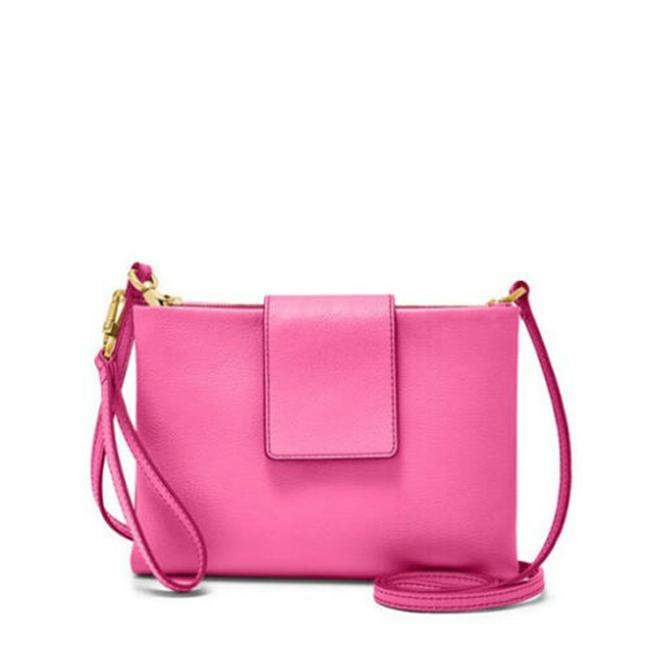 Item - Mini Zb7561673 Carly In Neon Pink Leather Cross Body Bag