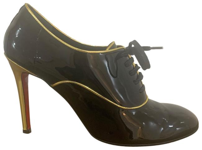 Item - Black Gold Heel and Piping Miss Fred Boots/Booties Size EU 38 (Approx. US 8) Regular (M, B)