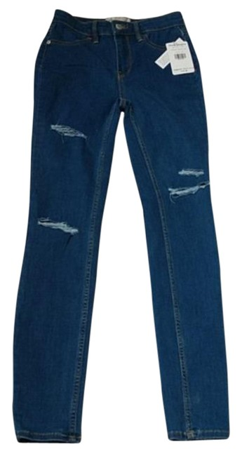 Item - Blue Distressed Destroyed Long and Lean Jeggings Skinny Jeans Size 25 (2, XS)
