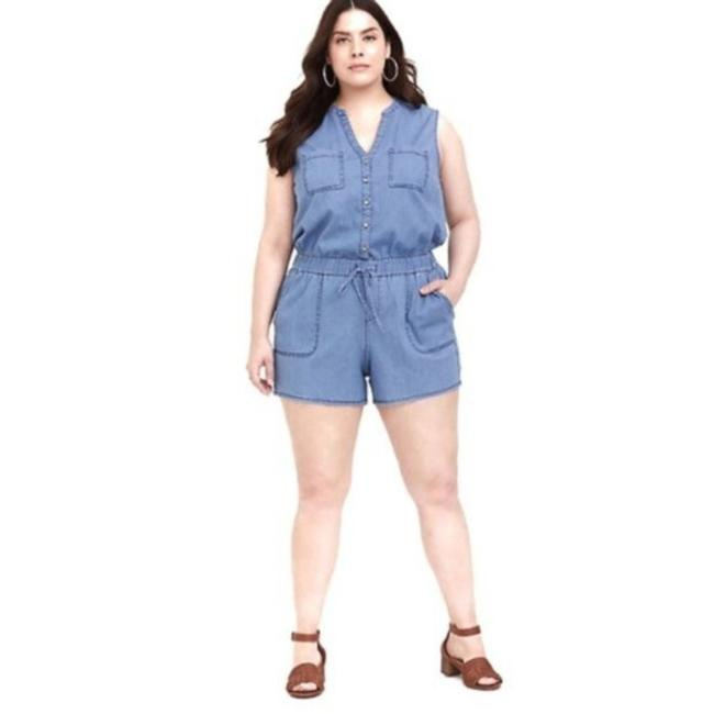 Item - Blue Denim Drawstring Pockets 4 Plus Romper/Jumpsuit