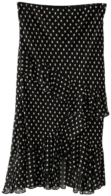 Item - Black Beige Polka Dot Skirt Size 4 (S, 27)