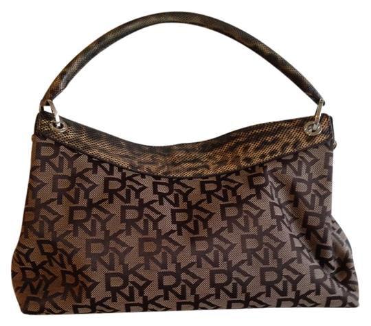 Preload https://item5.tradesy.com/images/dkny-brown-fabric-and-leather-trim-satchel-2856949-0-0.jpg?width=440&height=440