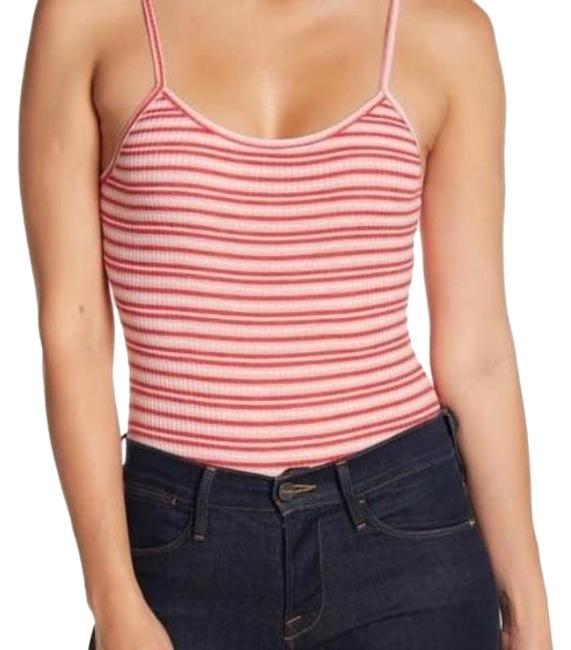 Item - Red and White Striped Bodysuit S Tank Top/Cami Size 4 (S)