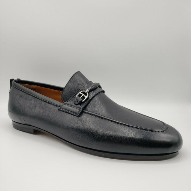 Item - Black W Leather Loafer Dress W/Aged Silver Horsebit Us 8d / 7 Eu Shoes