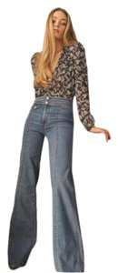 Veronica Beard Retro Vintage 70s Trouser/Wide Leg Jeans