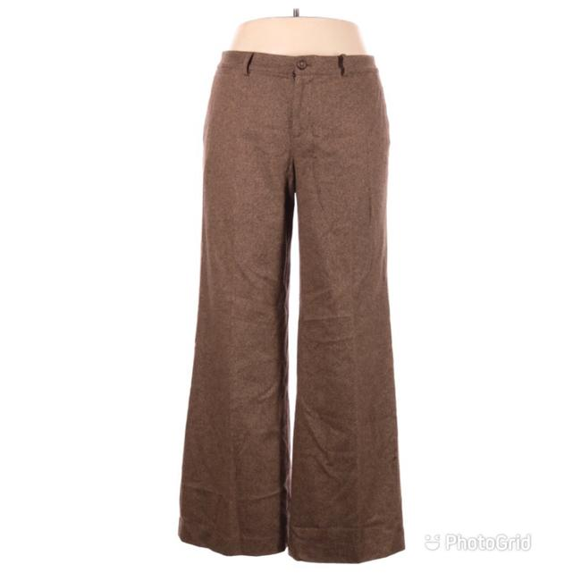 Item - Brown Wool Straight Wide Leg Pants Size 14 (L, 34)