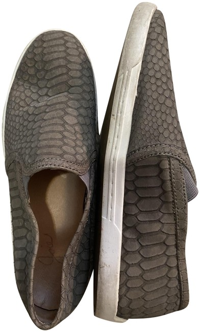Item - Grey Alligator Leather Slip-on Sneaker Flats Size EU 36.5 (Approx. US 6.5) Regular (M, B)