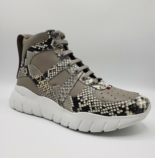 Item - Gray Leather/Python Leather Hitop Extralight Sneaker Us 8d/Eu 7 Shoes