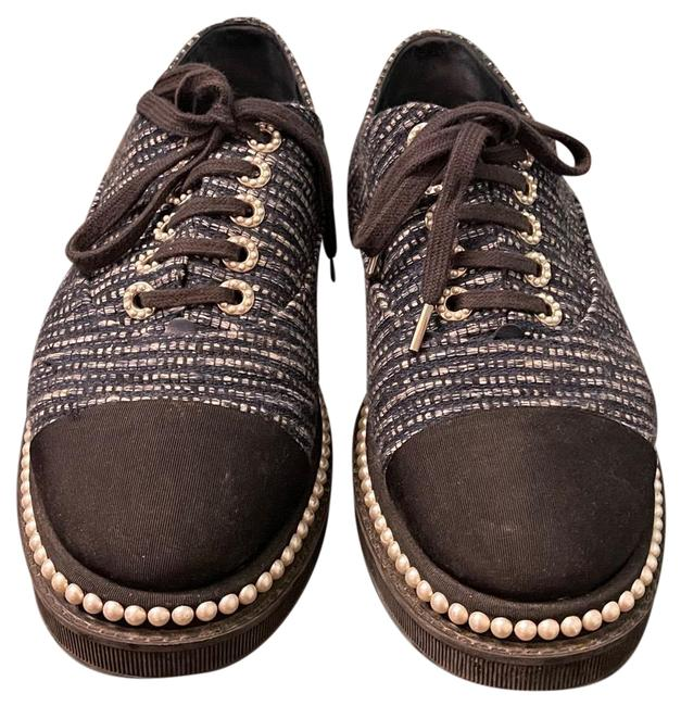 Item - Black and Blue Pearl Sequin Tweed Sneakers Size EU 40 (Approx. US 10) Regular (M, B)