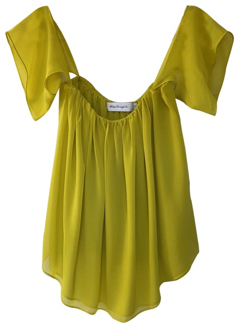 Item - Yellow Ethereal Flounce Blouse Size 4 (S)