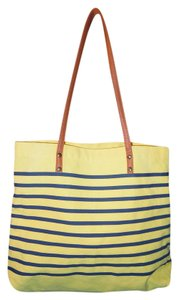 Other Tote in yellow and navy stripe