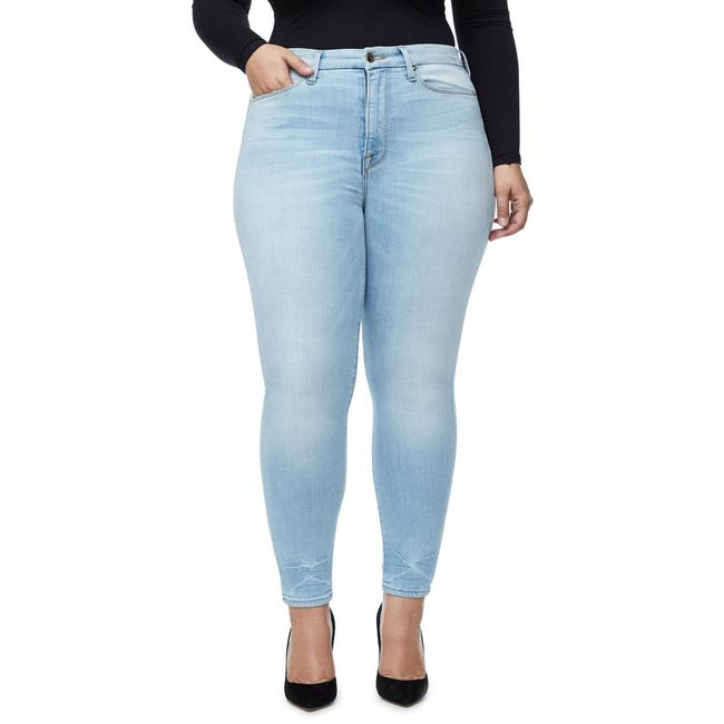 Good American Blue Light Wash Legs Crop Skinny Jeans Size 22 (Plus 2x) Good American Blue Light Wash Legs Crop Skinny Jeans Size 22 (Plus 2x) Image 1