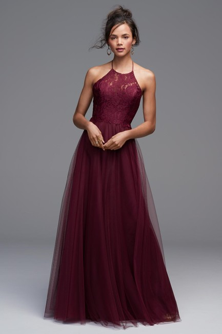 Item - Burgundy Tulle Lace Rory-4604 Formal Bridesmaid/Mob Dress Size 6 (S)
