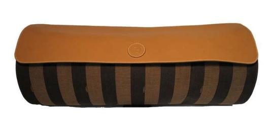 Fendi Mustard Yellow and Stripes Clutch
