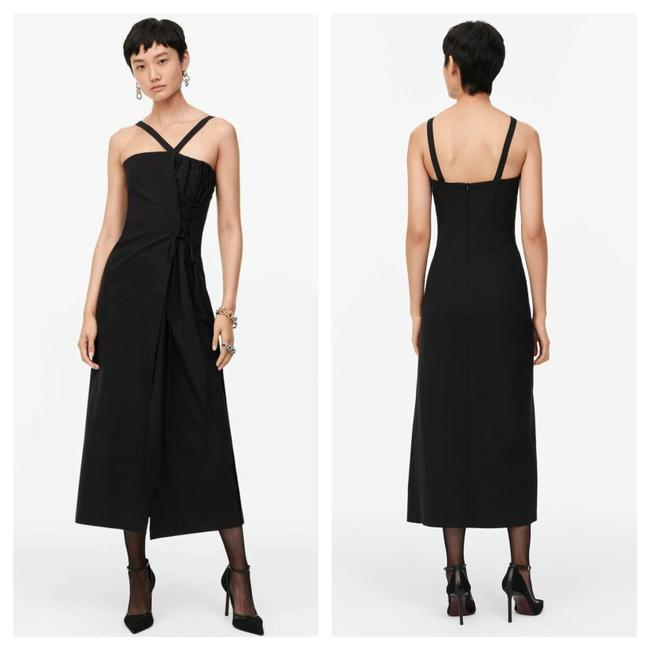 Item - Black Limited Edition Lace-up Detail Long Night Out Dress Size 4 (S)
