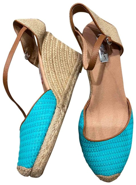Item - Turquoise / Teal Wedge Sandals Size US 11 Regular (M, B)