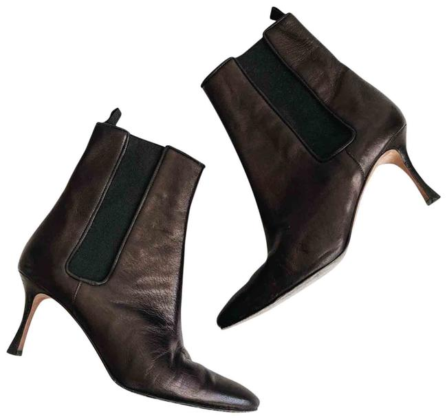 Item - Black Leather Ankle Brown Boots/Booties Size EU 39.5 (Approx. US 9.5) Regular (M, B)