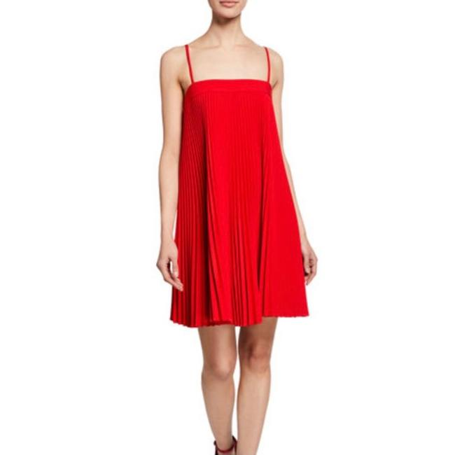 Item - Red New Mila Pleated In Ruby Mid-length Cocktail Dress Size 8 (M)