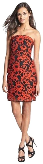 Item - Red Black Walker Two Tone Short Cocktail Dress Size 2 (XS)