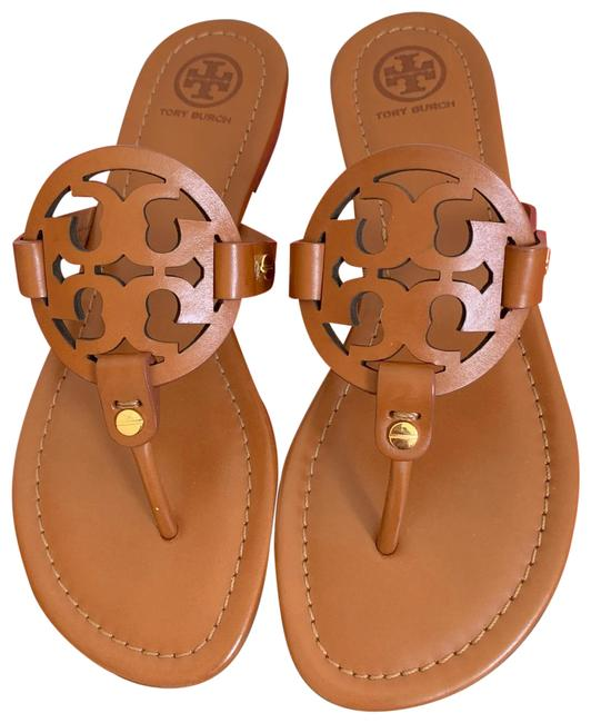 Item - Brown T Miller Leather Double-t Logo Sandals Size US 11 Regular (M, B)
