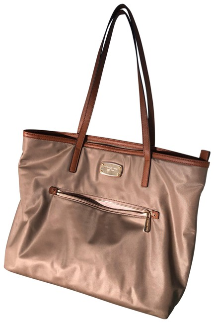 Item - Large Canvas Tan and Gold Tote