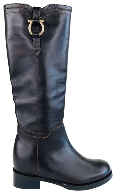 Item - Brown Fersea Gancini Riding Leather Boots/Booties Size US 5.5 Regular (M, B)