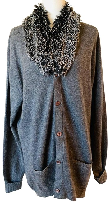 Item - Gray Vintage Of Scotland Pure Cashmere Cardigan Size 12 (L)