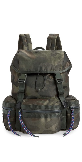 Item - Downtown Nylon Military/ Green Polyester Backpack