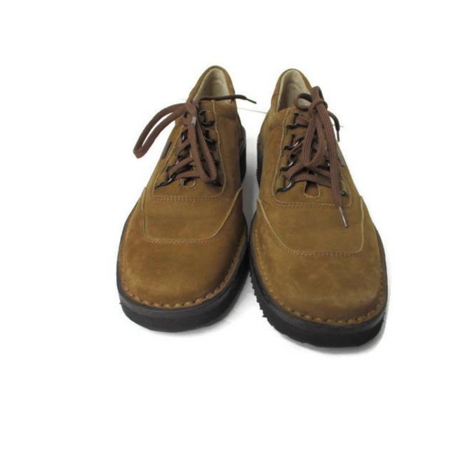 Item - Brown Nubuck Suede Lace-up Flats Size US 6 Narrow (Aa, N)
