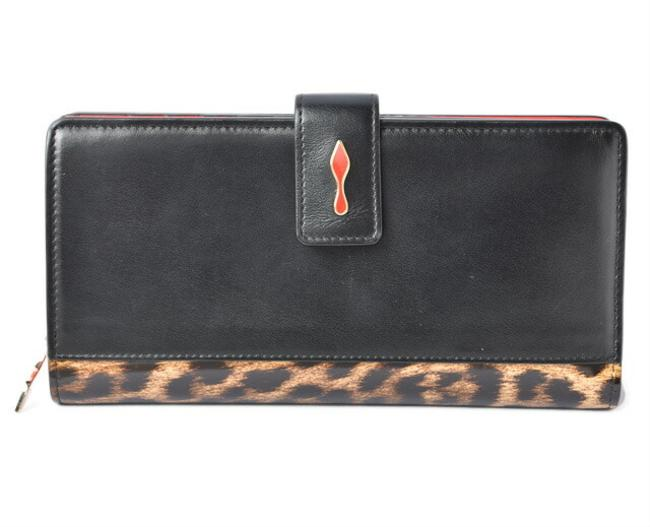 Item - Black / Brown Long Panettone Zipped Leopard Print 1195019 Wallet