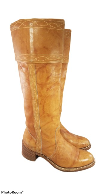 Item - Tan Vtg Woman Tall Campus Lining Leather Equestrian Riding Boots/Booties Size US 7.5 Regular (M, B)