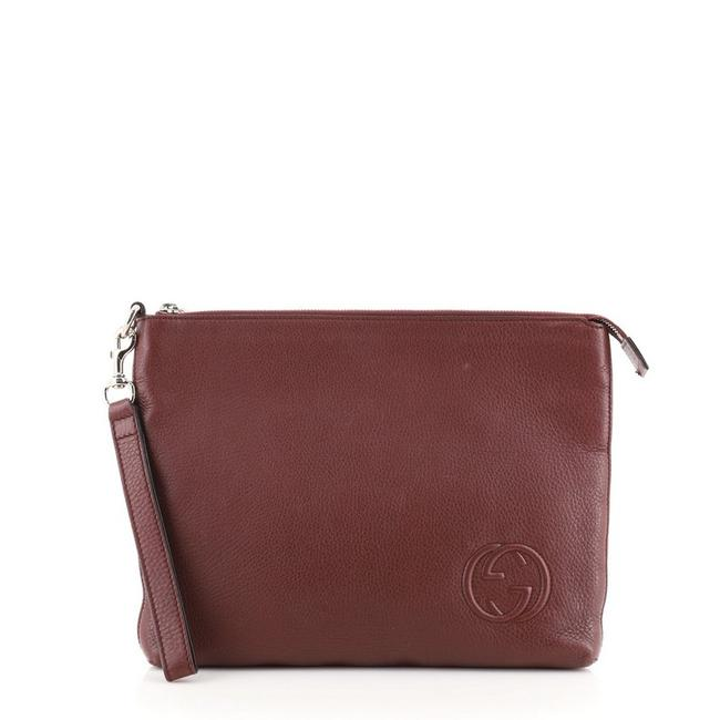 Item - Soho Travel Pouch Red Leather Wristlet
