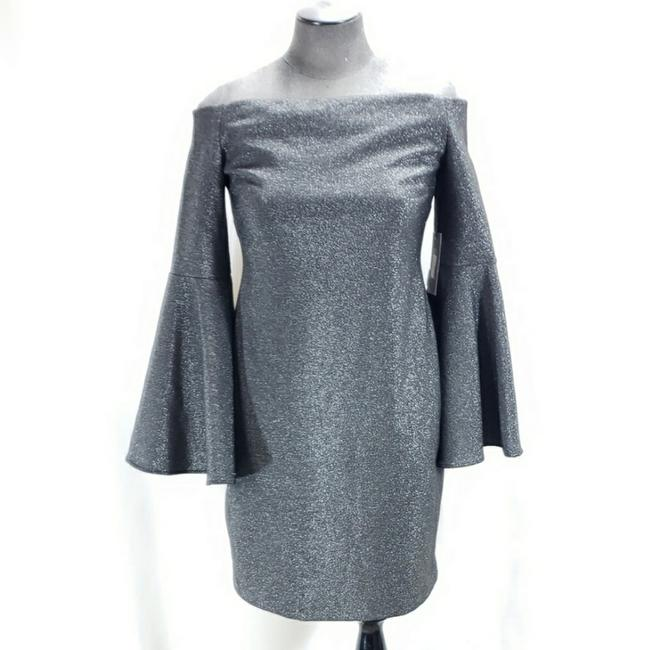 Item - Black Shimmer Metallic Mid-length Night Out Dress Size 2 (XS)