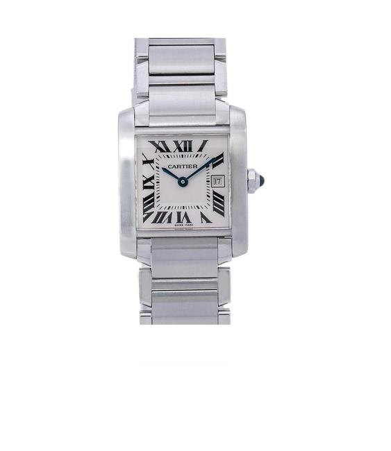 Item - White Tank Française W51011q3 25mm Dial with Stainless Steel Watch
