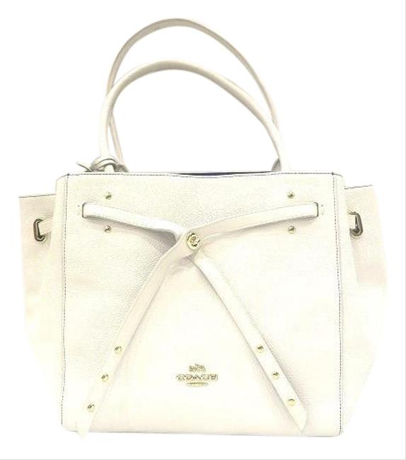 Item - Turnlock Thailand Small 35838 Ladies White Leather Tote
