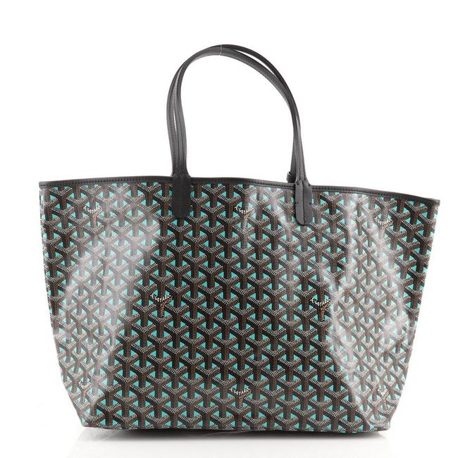 Item - Saint Louis Claire Voie Pm Brown Green Coated Canvas Tote