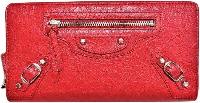 Item - Red Color Zipper Classic Continental Giant Long Women Wallet
