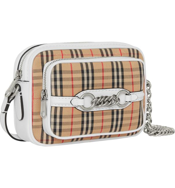 Item - Antique Yellow / Silver Vintage Check Link Camera Cross Body Bag