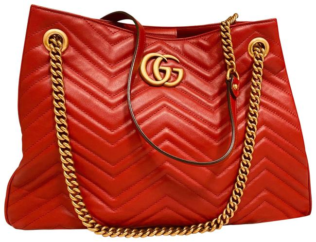 Item - Marmont Red Lambskin Leather Satchel