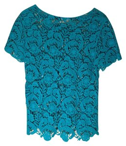Francesca's Top Teal