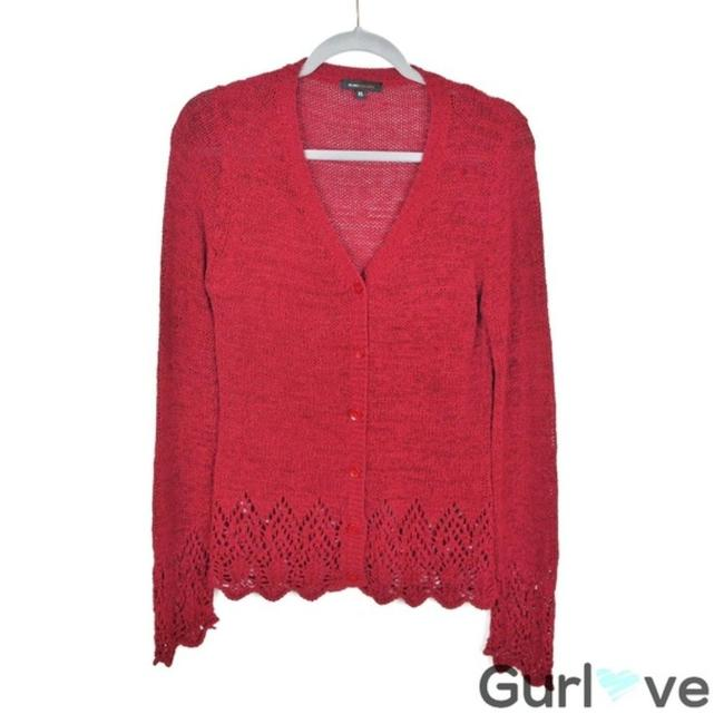 Item - XL Burgundy Knitted Cardigan Red Sweater