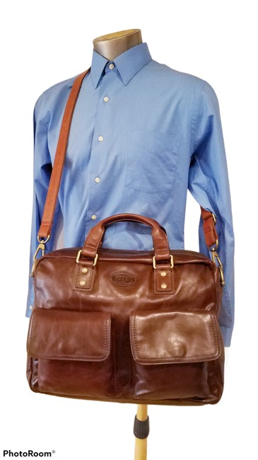 Item - Vintage Doctor Satchel Brown Leather Messenger Bag