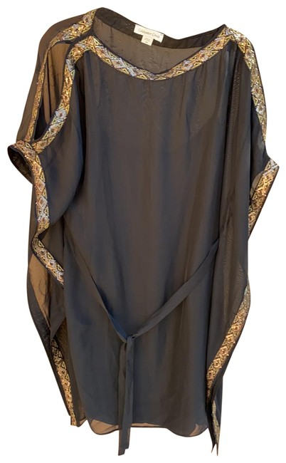 Item - Black and Gold Mid-length Casual Maxi Dress Size 6 (S)