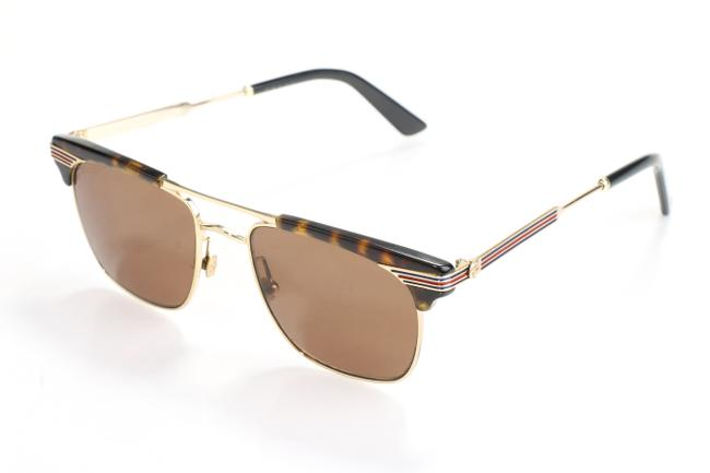 Item - Brown/Gold Sunglasses Gg0287s Men's Jewelry/Accessory