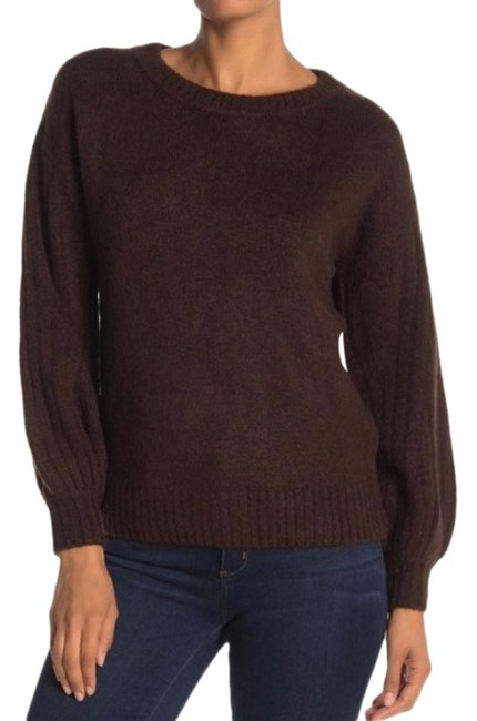 Item - Cozy Ribbed Puff Sleeve Brown Sweater