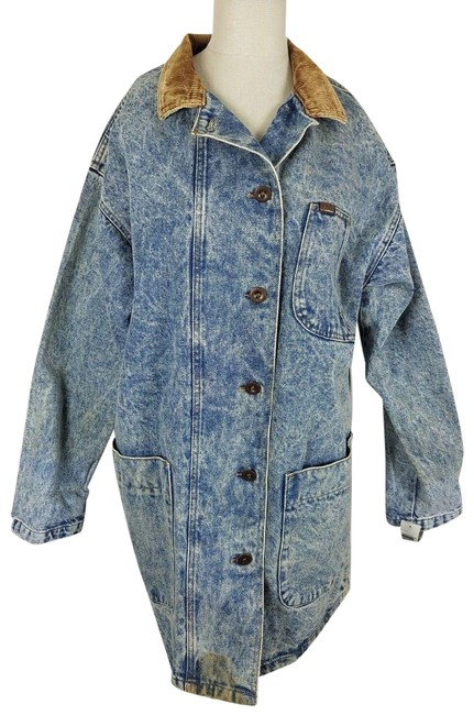 Item - Blue Frost Indigo Acid Washed Cropped Duster Coat Jean Jacket Size 10 (M)