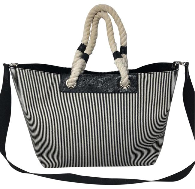 Item - Blue and White Canvas Tote